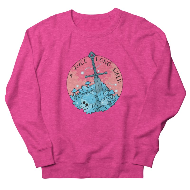 A NICE LONG WALK Women's French Terry Sweatshirt by GOOD AND NICE SHIRTS