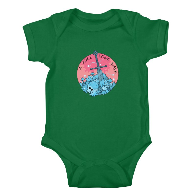 A NICE LONG WALK Kids Baby Bodysuit by GOOD AND NICE SHIRTS