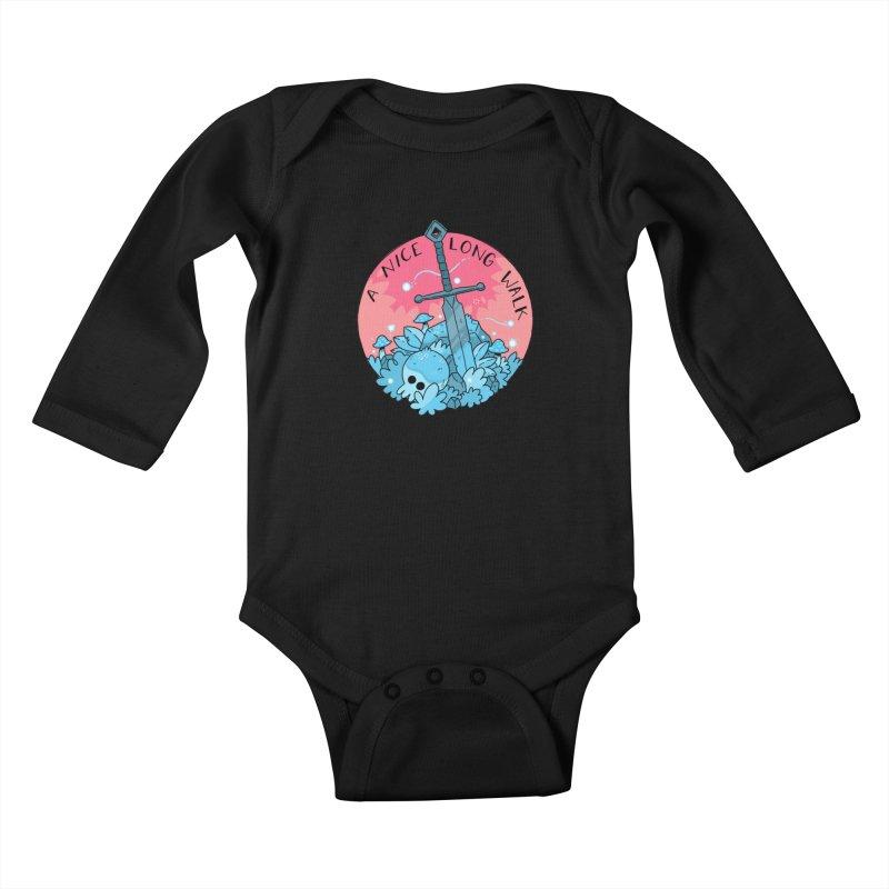 A NICE LONG WALK Kids Baby Longsleeve Bodysuit by GOOD AND NICE SHIRTS