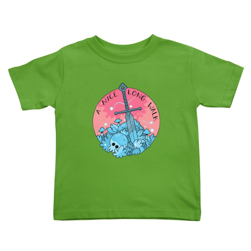 A NICE LONG WALK Kids Toddler T-Shirt by GOOD AND NICE SHIRTS