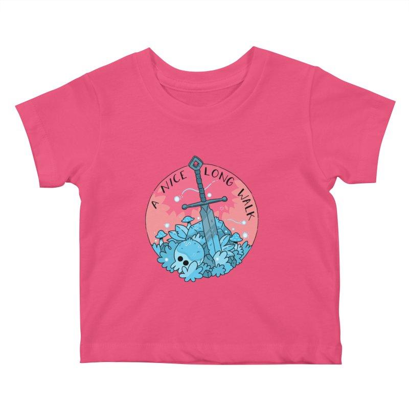 A NICE LONG WALK Kids Baby T-Shirt by GOOD AND NICE SHIRTS