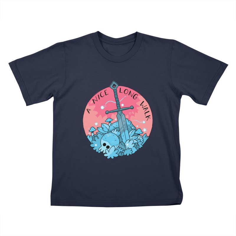 A NICE LONG WALK Kids T-Shirt by GOOD AND NICE SHIRTS