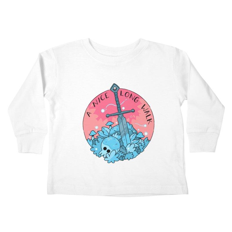 A NICE LONG WALK Kids Toddler Longsleeve T-Shirt by GOOD AND NICE SHIRTS