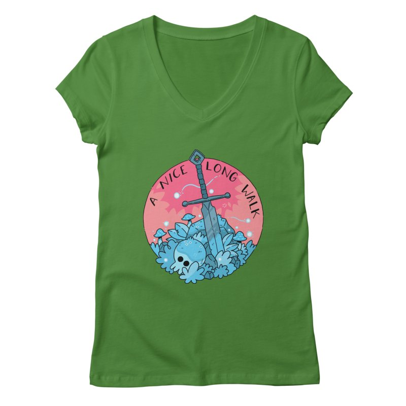 A NICE LONG WALK Women's Regular V-Neck by GOOD AND NICE SHIRTS