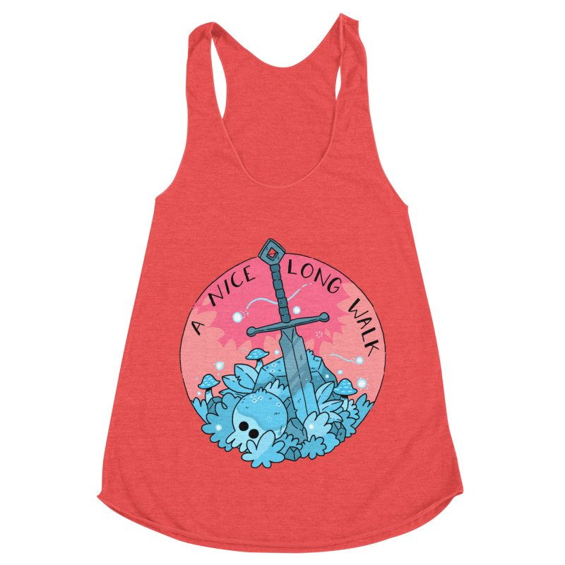 A NICE LONG WALK Women's Racerback Triblend Tank by GOOD AND NICE SHIRTS