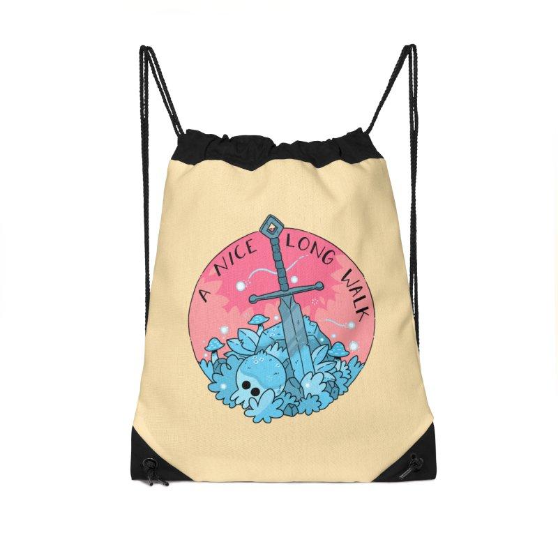 A NICE LONG WALK Accessories Drawstring Bag Bag by GOOD AND NICE SHIRTS