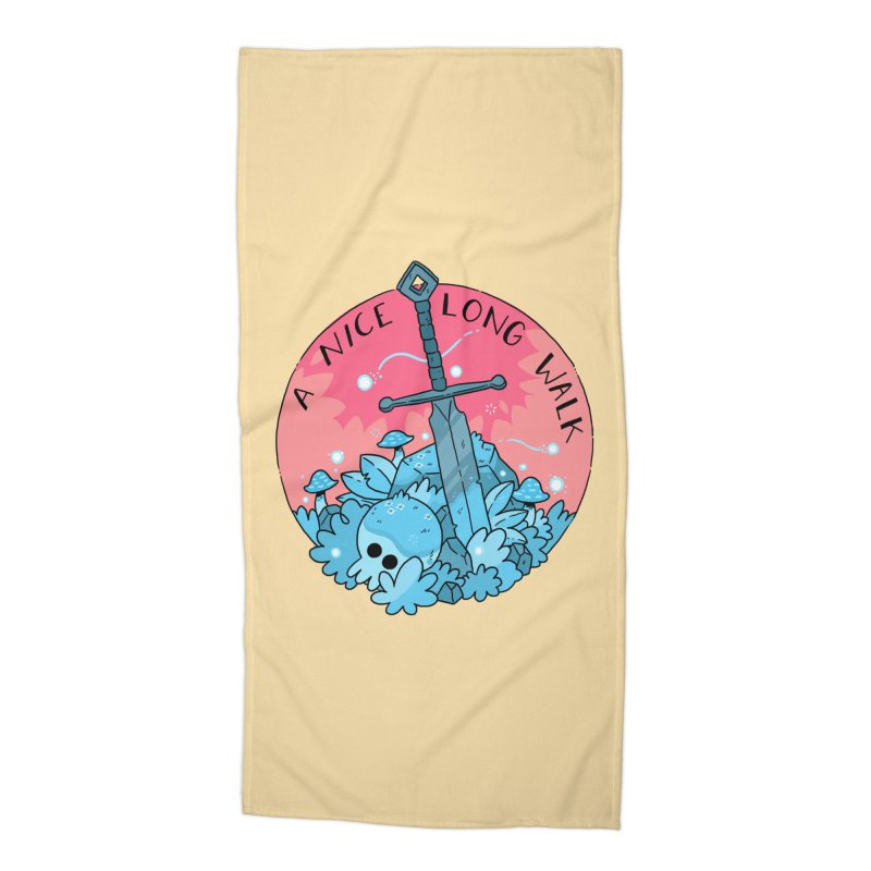 A NICE LONG WALK Accessories Beach Towel by GOOD AND NICE SHIRTS