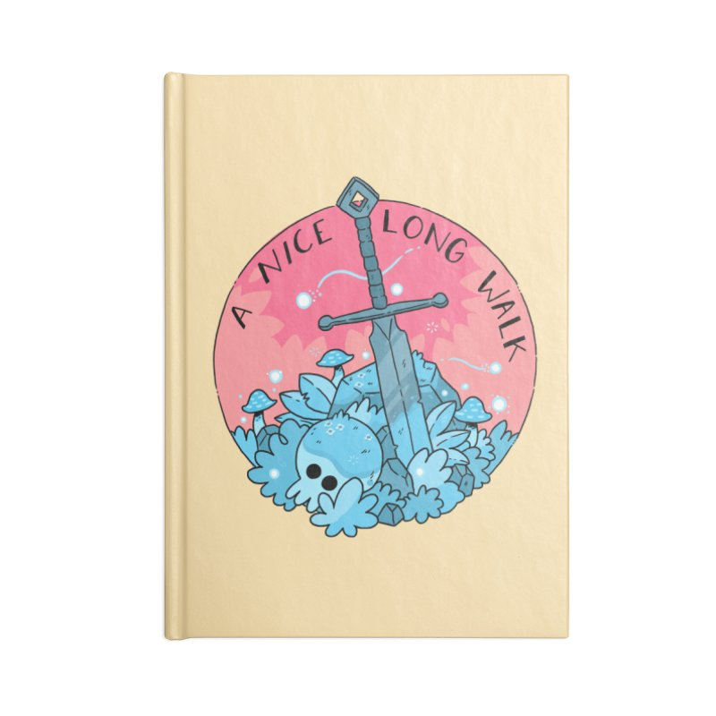 A NICE LONG WALK Accessories Blank Journal Notebook by GOOD AND NICE SHIRTS