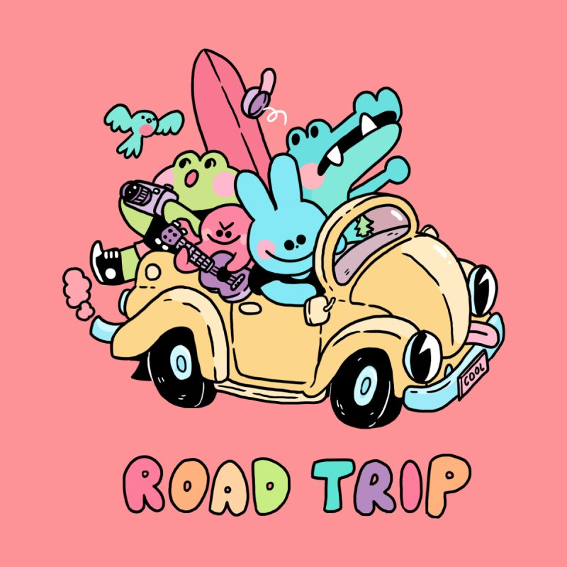 ROAD TRIP by GOOD AND NICE SHIRTS
