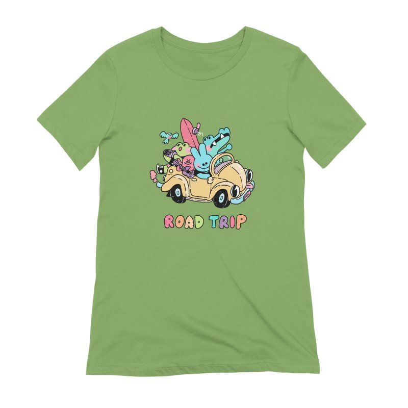 ROAD TRIP Women's Extra Soft T-Shirt by GOOD AND NICE SHIRTS