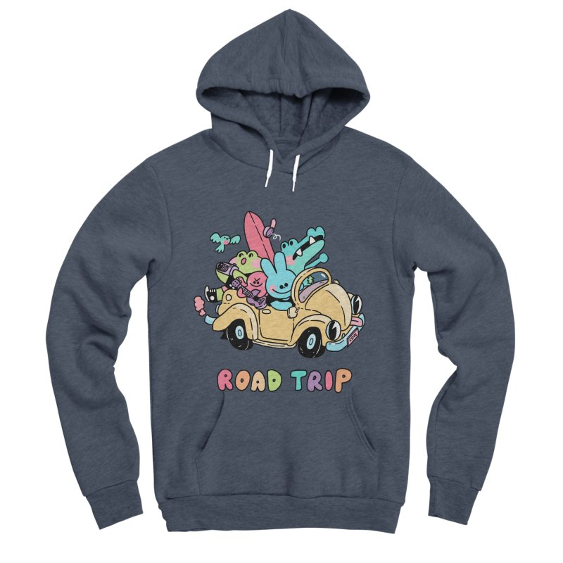 ROAD TRIP Women's Sponge Fleece Pullover Hoody by GOOD AND NICE SHIRTS