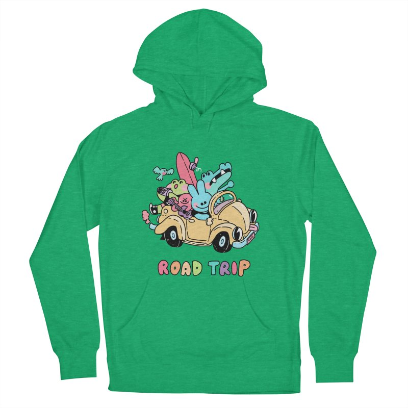 ROAD TRIP Women's French Terry Pullover Hoody by GOOD AND NICE SHIRTS