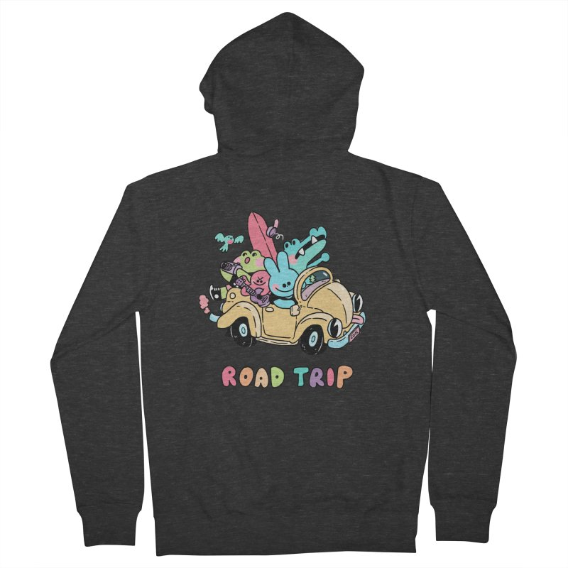 ROAD TRIP Women's French Terry Zip-Up Hoody by GOOD AND NICE SHIRTS