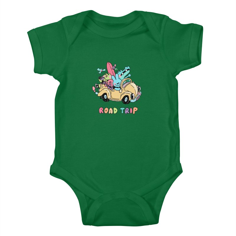 ROAD TRIP Kids Baby Bodysuit by GOOD AND NICE SHIRTS