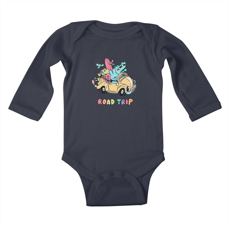 ROAD TRIP Kids Baby Longsleeve Bodysuit by GOOD AND NICE SHIRTS