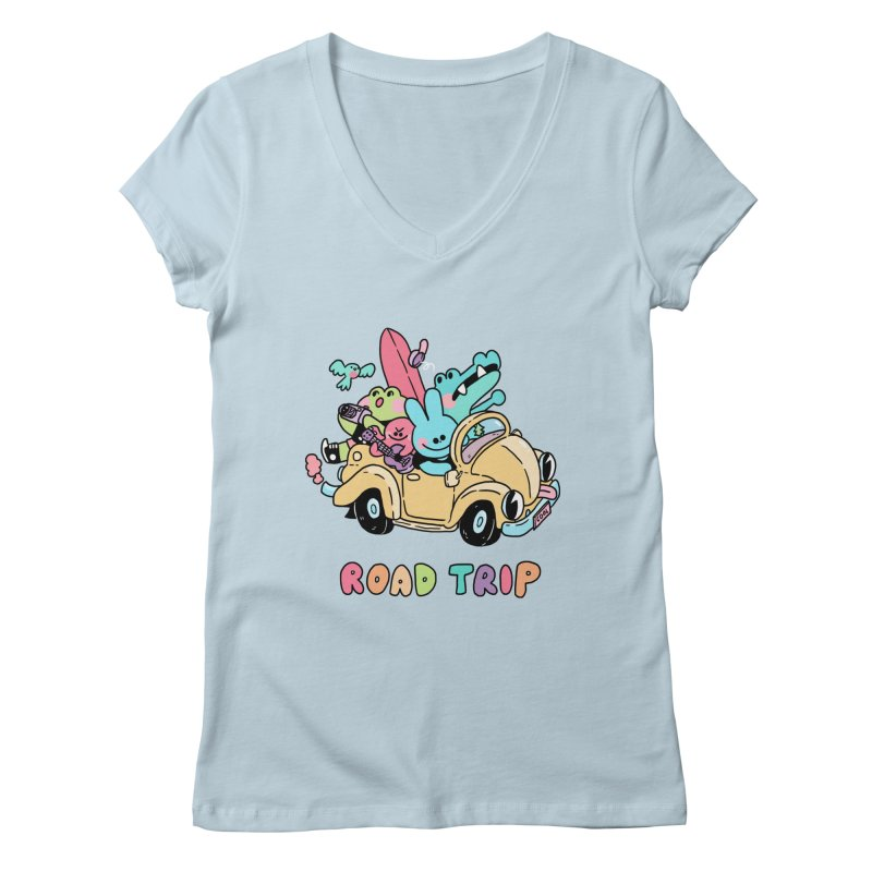 ROAD TRIP Women's V-Neck by GOOD AND NICE SHIRTS