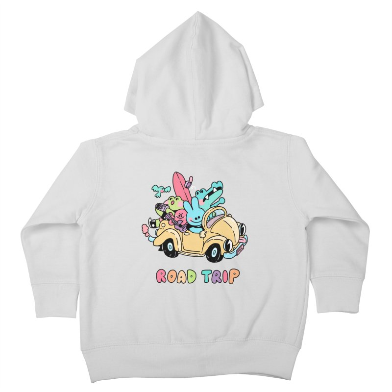ROAD TRIP Kids Toddler Zip-Up Hoody by GOOD AND NICE SHIRTS