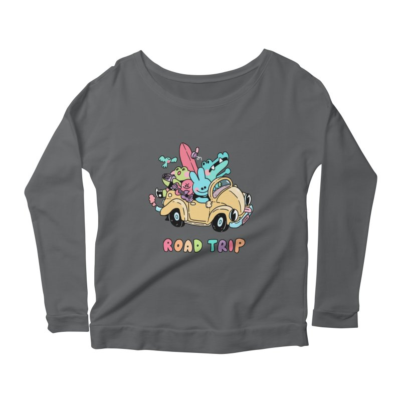 ROAD TRIP Women's Scoop Neck Longsleeve T-Shirt by GOOD AND NICE SHIRTS