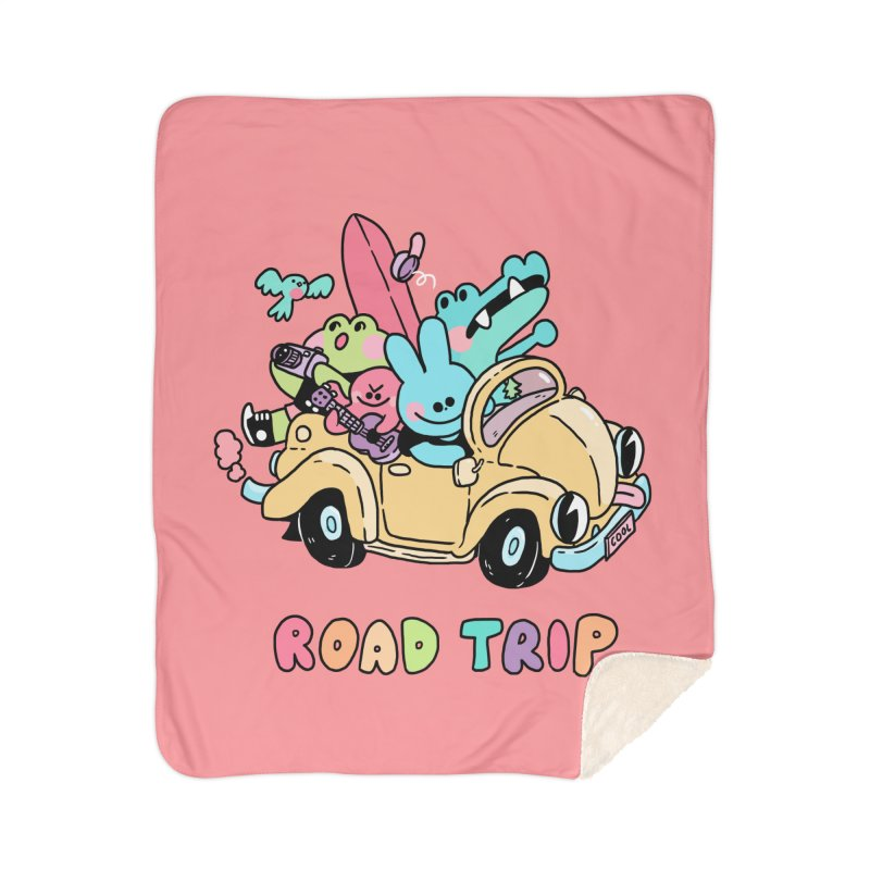 ROAD TRIP Home Sherpa Blanket Blanket by GOOD AND NICE SHIRTS