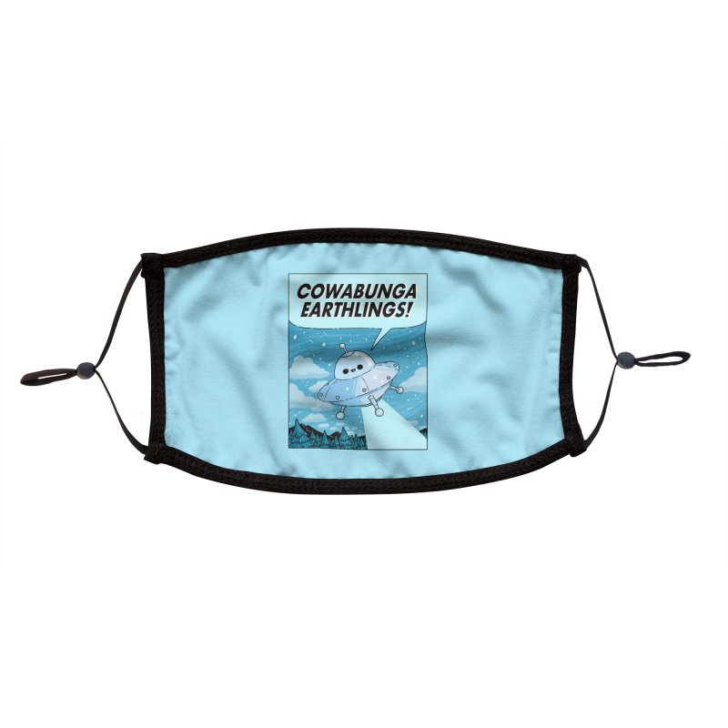 COWABUNGA EARTHLINGS Accessories Face Mask by GOOD AND NICE SHIRTS