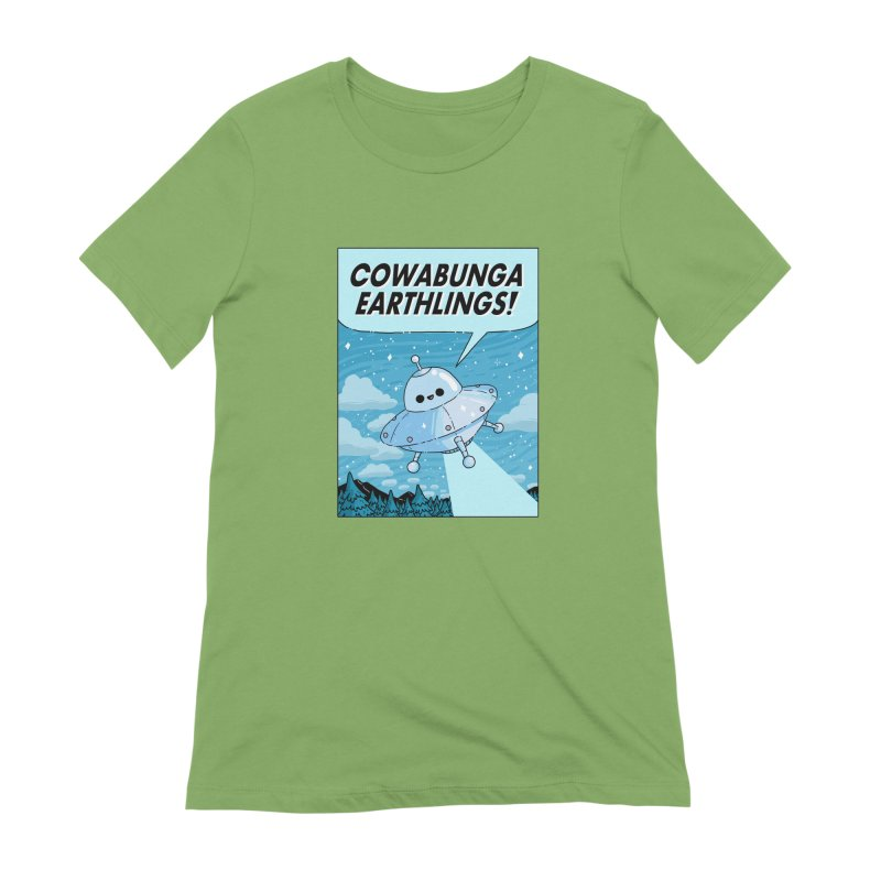 COWABUNGA EARTHLINGS Women's Extra Soft T-Shirt by GOOD AND NICE SHIRTS