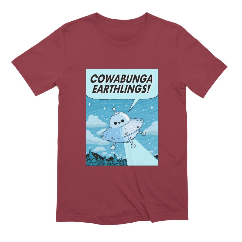 COWABUNGA EARTHLINGS Men's Extra Soft T-Shirt by GOOD AND NICE SHIRTS