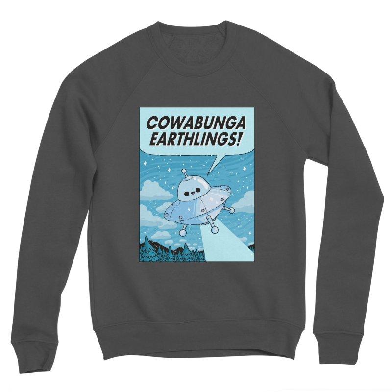 COWABUNGA EARTHLINGS Women's Sponge Fleece Sweatshirt by GOOD AND NICE SHIRTS