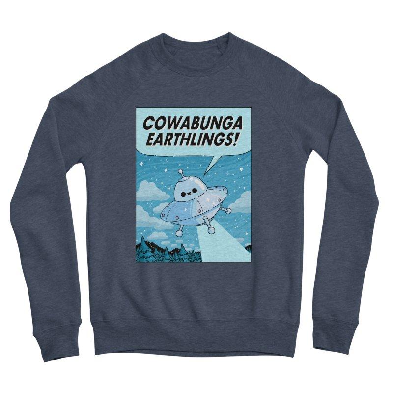 COWABUNGA EARTHLINGS Men's Sponge Fleece Sweatshirt by GOOD AND NICE SHIRTS