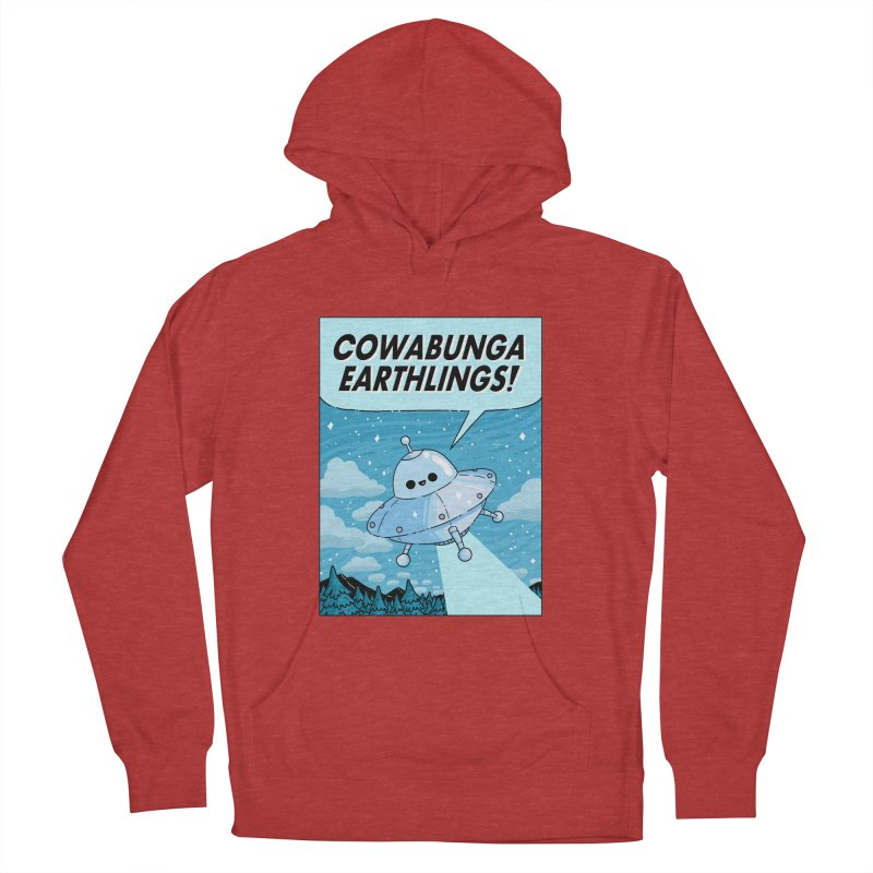 COWABUNGA EARTHLINGS Women's French Terry Pullover Hoody by GOOD AND NICE SHIRTS