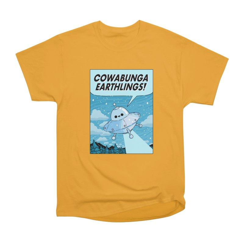 COWABUNGA EARTHLINGS Women's Heavyweight Unisex T-Shirt by GOOD AND NICE SHIRTS