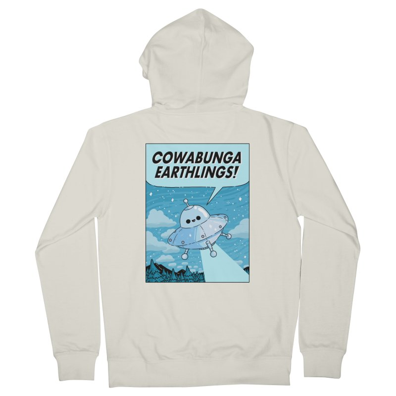 COWABUNGA EARTHLINGS Women's French Terry Zip-Up Hoody by GOOD AND NICE SHIRTS