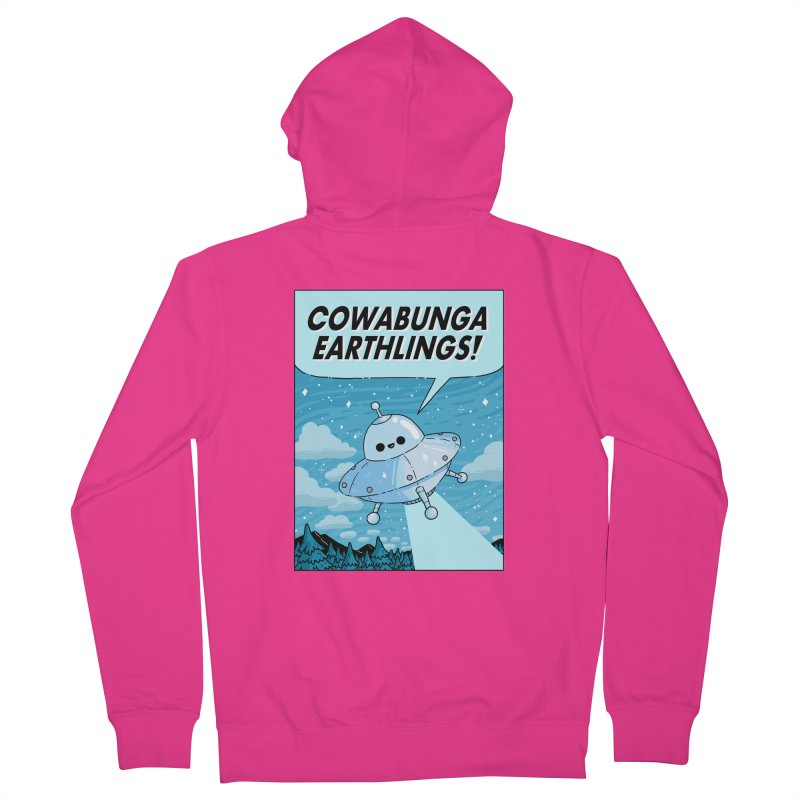 COWABUNGA EARTHLINGS Men's French Terry Zip-Up Hoody by GOOD AND NICE SHIRTS