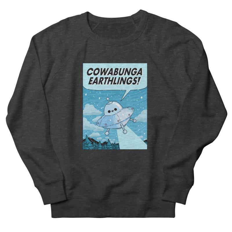COWABUNGA EARTHLINGS Men's French Terry Sweatshirt by GOOD AND NICE SHIRTS