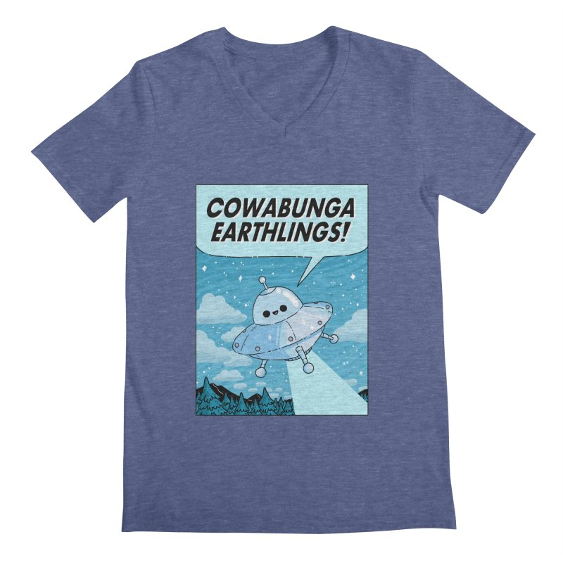 COWABUNGA EARTHLINGS Men's Regular V-Neck by GOOD AND NICE SHIRTS