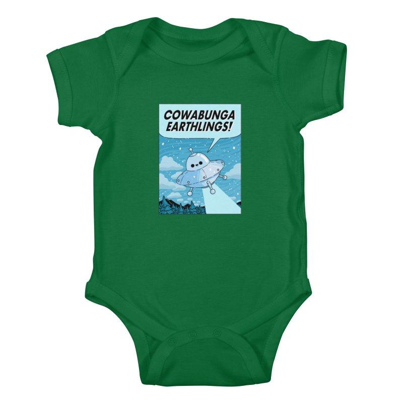 COWABUNGA EARTHLINGS Kids Baby Bodysuit by GOOD AND NICE SHIRTS