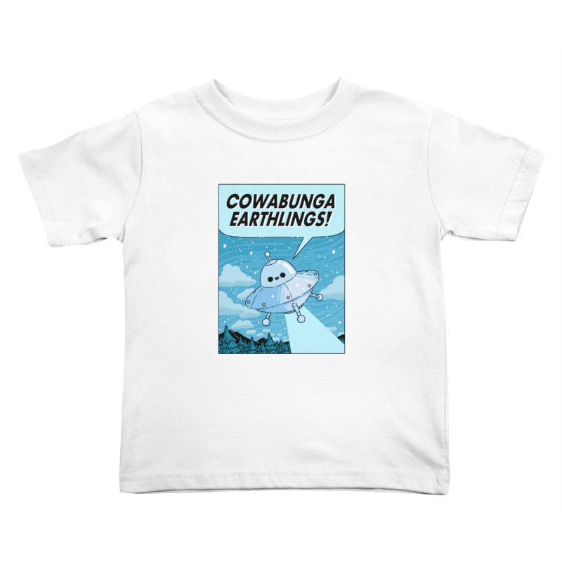 COWABUNGA EARTHLINGS Kids Toddler T-Shirt by GOOD AND NICE SHIRTS