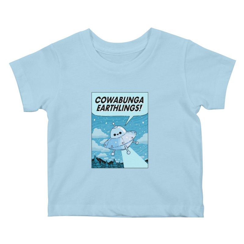 COWABUNGA EARTHLINGS Kids Baby T-Shirt by GOOD AND NICE SHIRTS