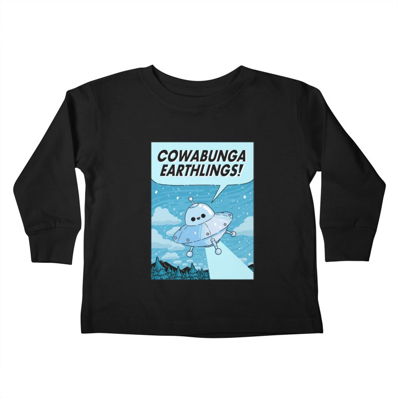 COWABUNGA EARTHLINGS Kids Toddler Longsleeve T-Shirt by GOOD AND NICE SHIRTS