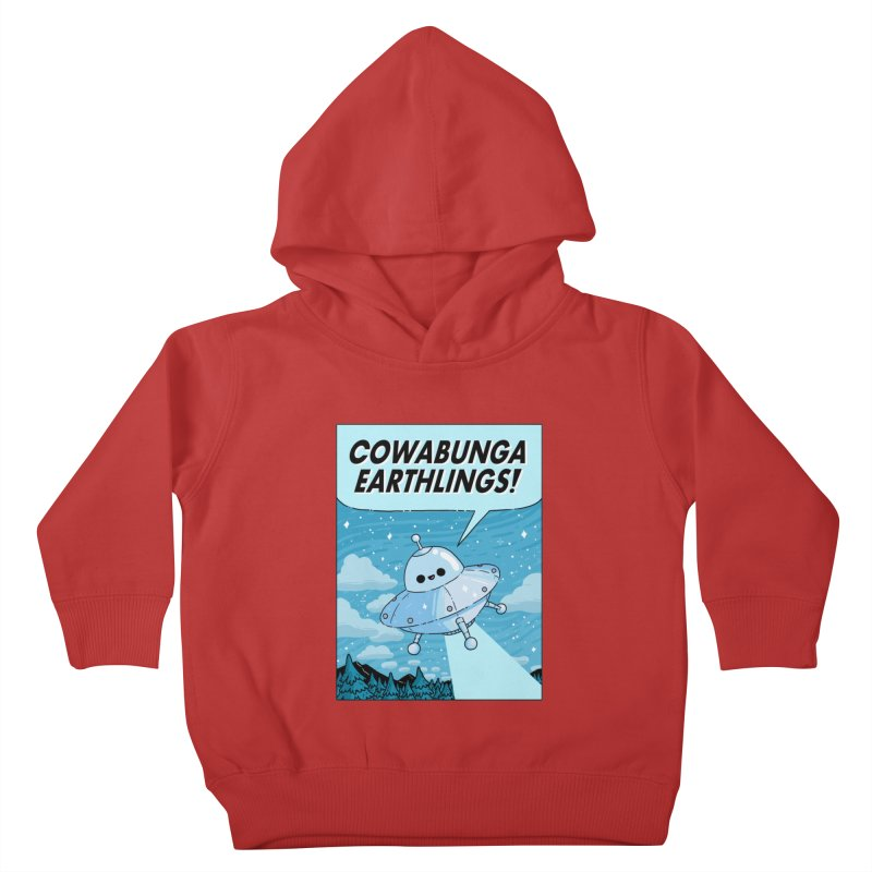 COWABUNGA EARTHLINGS Kids Toddler Pullover Hoody by GOOD AND NICE SHIRTS