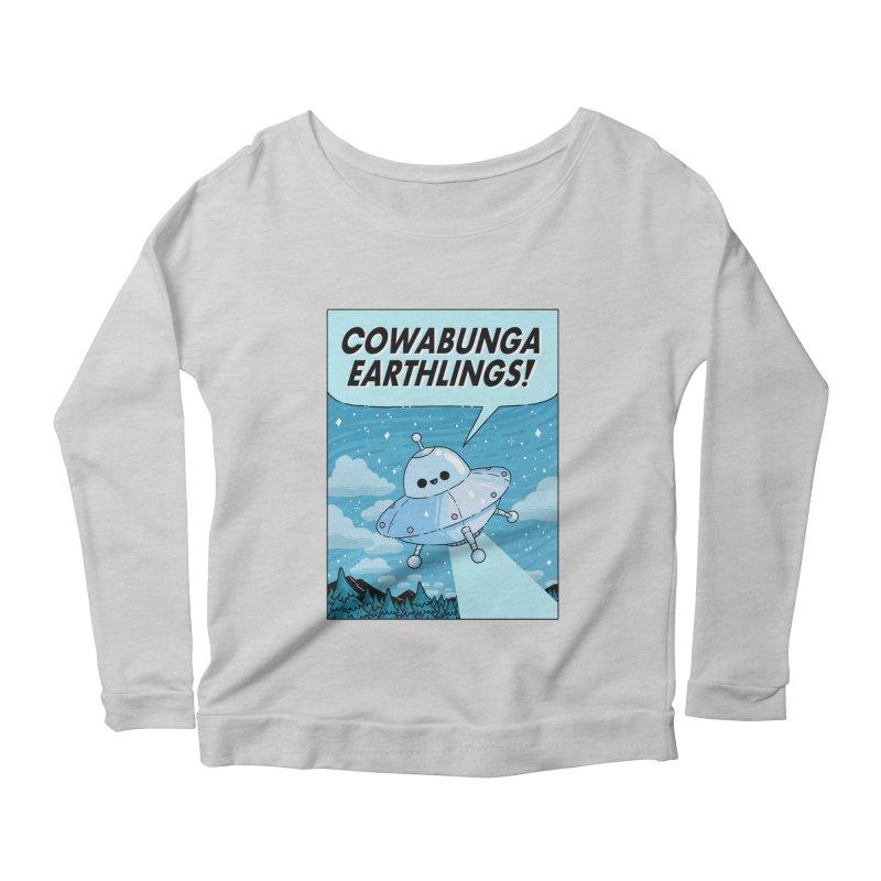 COWABUNGA EARTHLINGS Women's Scoop Neck Longsleeve T-Shirt by GOOD AND NICE SHIRTS