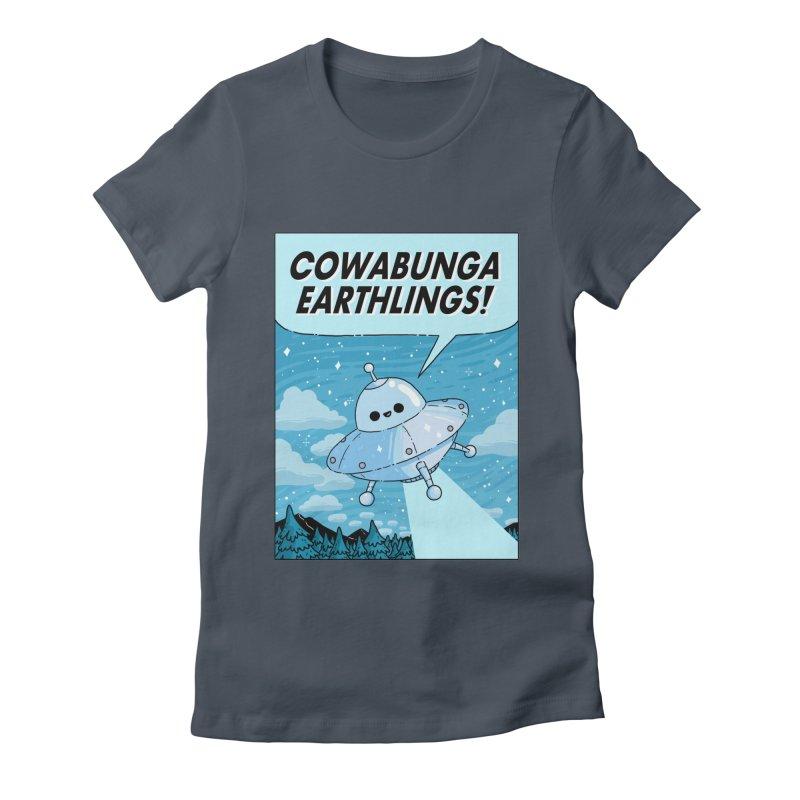 COWABUNGA EARTHLINGS Women's T-Shirt by GOOD AND NICE SHIRTS