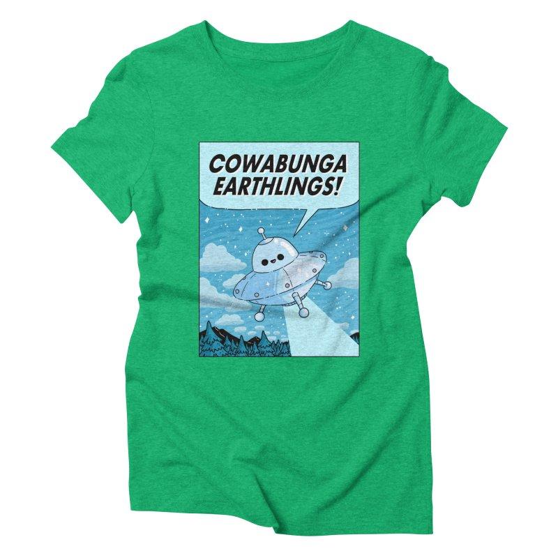 COWABUNGA EARTHLINGS Women's Triblend T-Shirt by GOOD AND NICE SHIRTS