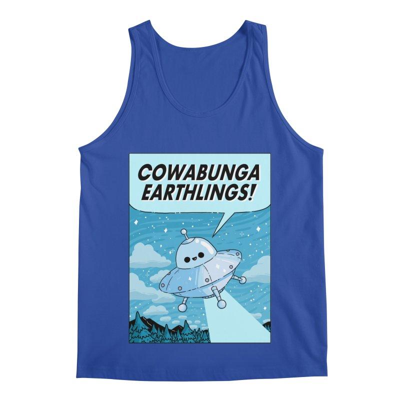 COWABUNGA EARTHLINGS Men's Regular Tank by GOOD AND NICE SHIRTS