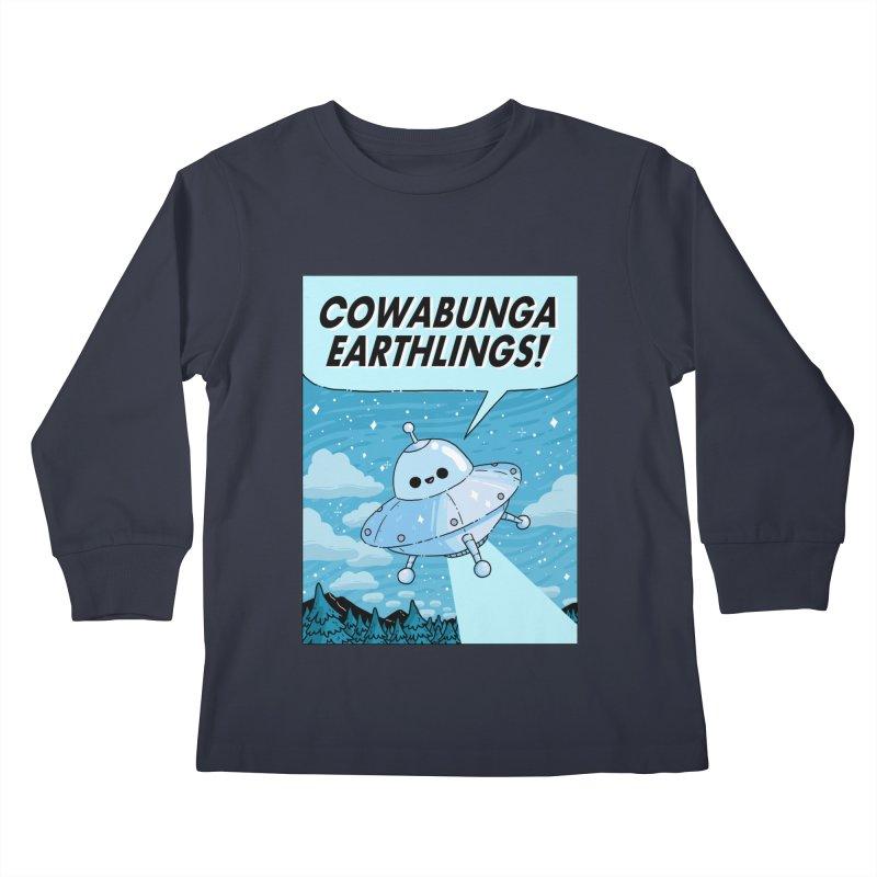 COWABUNGA EARTHLINGS Kids Longsleeve T-Shirt by GOOD AND NICE SHIRTS