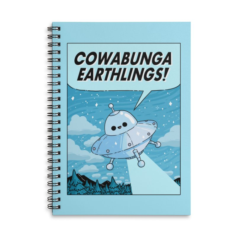 COWABUNGA EARTHLINGS Accessories Lined Spiral Notebook by GOOD AND NICE SHIRTS