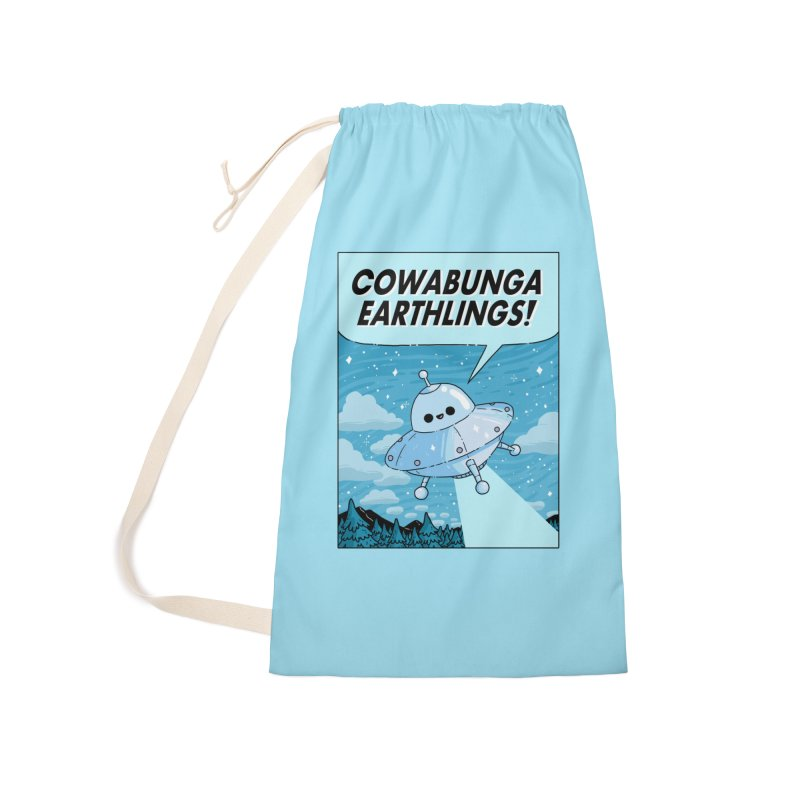 COWABUNGA EARTHLINGS Accessories Laundry Bag Bag by GOOD AND NICE SHIRTS