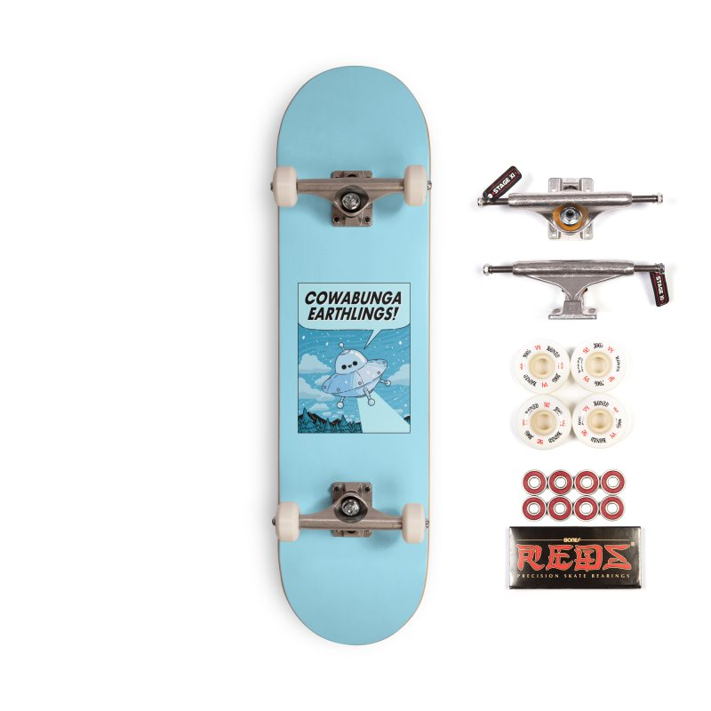 COWABUNGA EARTHLINGS Accessories Complete - Pro Skateboard by GOOD AND NICE SHIRTS
