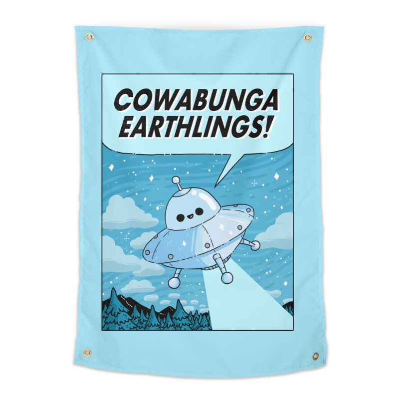 COWABUNGA EARTHLINGS Home Tapestry by GOOD AND NICE SHIRTS