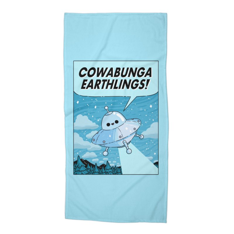 COWABUNGA EARTHLINGS Accessories Beach Towel by GOOD AND NICE SHIRTS