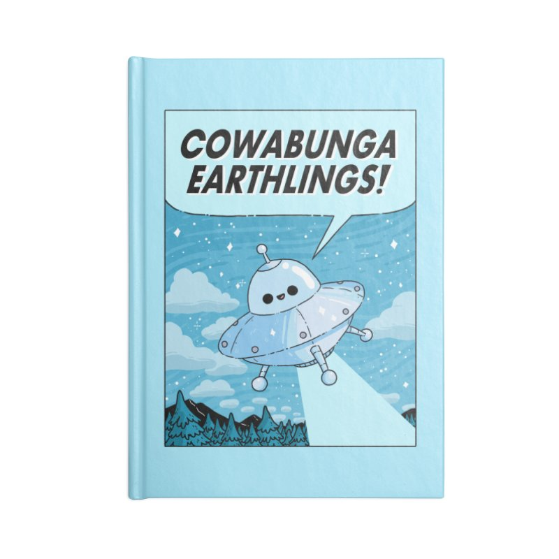 COWABUNGA EARTHLINGS Accessories Lined Journal Notebook by GOOD AND NICE SHIRTS